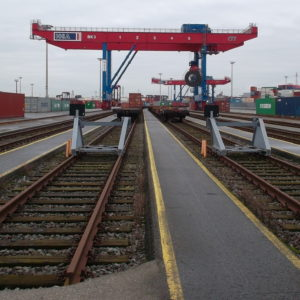Track warning system for Hamburger Hafen und Logistik AG